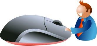 click mysz royalty ilustracja
