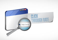 Click through rate browser message illustration Royalty Free Stock Image