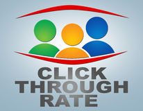Click Through Rate Royalty Free Stock Images