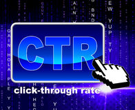 Click Through Rate Indicates World Wide Web And Analytics Stock Photo