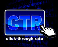 Click Through Rate Shows World Wide Web And Analytics Royalty Free Stock Image