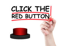 Click the red button Royalty Free Stock Photos