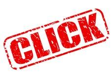 CLICK red stamp text Stock Photos