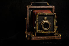 Click!. A replica of an old-style camera royalty free stock images
