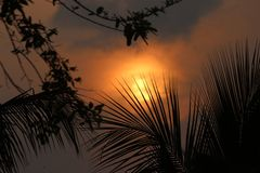 Sunset. Click of a sunset stock photography