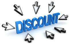 Click to discount concept Stock Photography