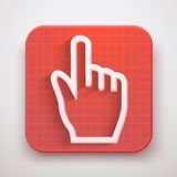 Click ursor icon mouse hand Royalty Free Stock Photo