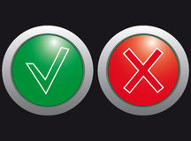 Click Yes and no, the icons. Stock Photography