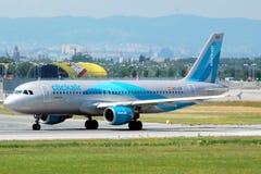 Clickair, EC-ICR, Airbus A320-200, 29 6 2008, LUTTENT, aéroport Schwechat, Autriche, l'Europe de Vienne Photos stock