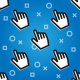 CLICKBAIT 手的游标按按钮 数字式营销 库存例证