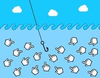 Clickbait en ligne Images libres de droits