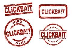 Clickbait-Tinten-Stempelsatz lizenzfreie abbildung