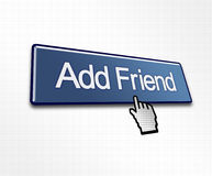Clicked Add Friend Button. Illustration for Social Media Royalty Free Stock Photos