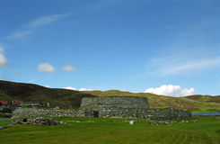 Clickimin Broch ancient fort, Lerwick, Shetland Royalty Free Stock Photography