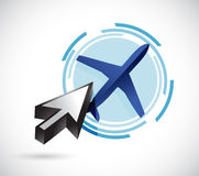 Clicking on an airplane illustration design Stock Photography