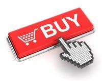 Clicking a buy button Stock Photo