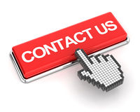 Clicking on contact us button, 3d render Stock Image