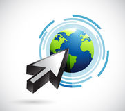 Clicking the earth illustration design Royalty Free Stock Photography