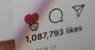 Clicking on instagram heart, like