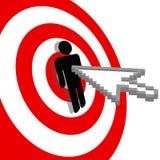 clicks быков стрелки eye цель интернета Стоковая Фотография