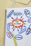 The client. Abstract sketch - many uses in the oil and gas industry Royalty Free Stock Photography