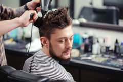 Client at barber shop Royalty Free Stock Image