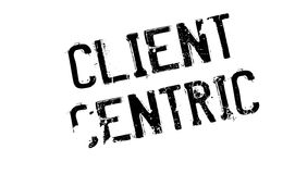 Client Centric rubber stamp. Grunge design with dust scratches. Effects can be easily removed for a clean, crisp look. Color is easily changed Stock Photography