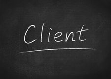 Client. Concept word on blackboard background Royalty Free Stock Photo