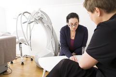Client consultation at body shape clinic Royalty Free Stock Photography