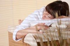 client female massage spa νεολαίες wellness Στοκ Εικόνες