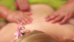Client Getting Oil Back Massage