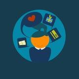 Client heureux d'icône de vecteur - fille Photos libres de droits