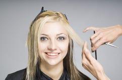 Client heureux de sourire de cheveu photo stock