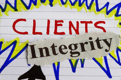 Client and integrity Stock Images