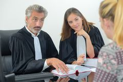 Client with legal professionals. Legal royalty free stock photos