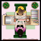 The client in the manikyurny hall of beauty shop. Royalty Free Stock Image