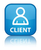 Client (member icon) special cyan blue square button Stock Photography