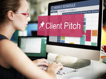 Client Pitch Consultant Corporate Customer Job Concept. Client Pitch Consultant Corporate Customer Job Royalty Free Stock Photography