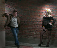 Client and prostitute Stock Photo