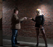 Client and prostitute Stock Images