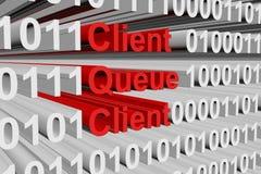 Client queue client Stock Photography
