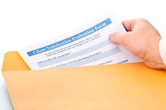 Client satisfaction evaluation form Royalty Free Stock Photos