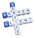 Client-Server computing Stock Image