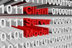 Client-server model Photo stock