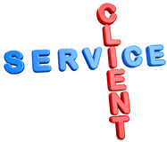Client Service. Abstract 3D concept Stock Images
