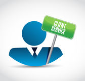 Client service icon and sign illustration Stock Photos