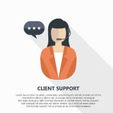 Client support. Illustration with text on white background Royalty Free Stock Photography