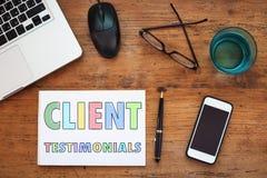Client testimonials, customer satisfaction royalty free stock image