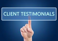 Client Testimonials Stock Photos