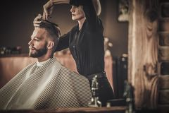 Client visiting hairstylist Stock Photography